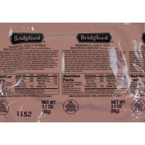 Picture of Bridgford Bacon Cheddar Pocket Sandwich (5 Units)
