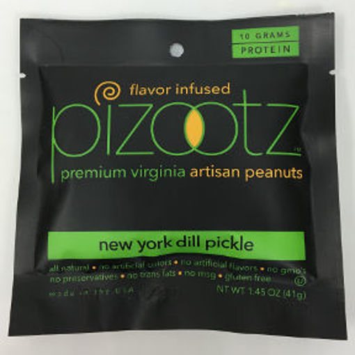 Picture of Pizootz New York Dill Pickle Flavor Infused Premium Virginia Gourmet Artisan Peanuts (9 Units)