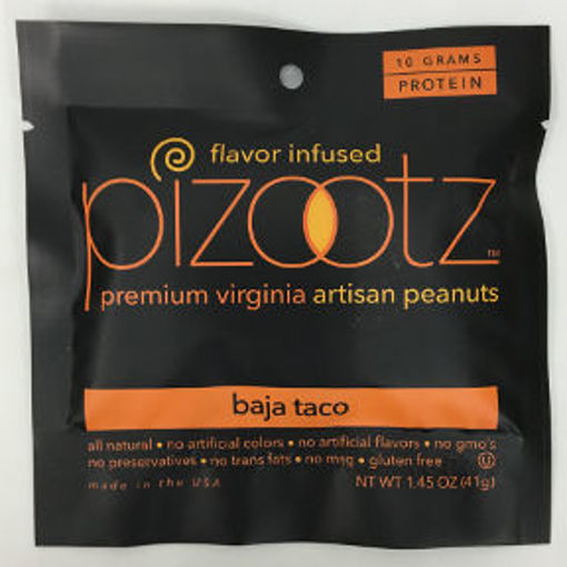 Picture of Pizootz Baja Taco Flavor Infused Premium Virginia Gourmet Artisan Peanuts (9 Units)