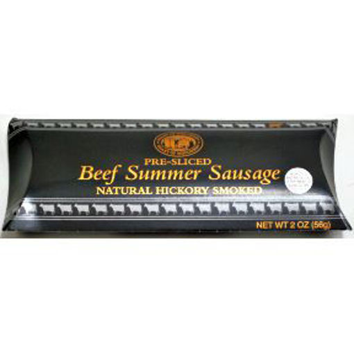 Picture of Heart of Wisconsin Pre-Sliced Beef Summer Sausage Natural Hickory Smoked (6 Units)