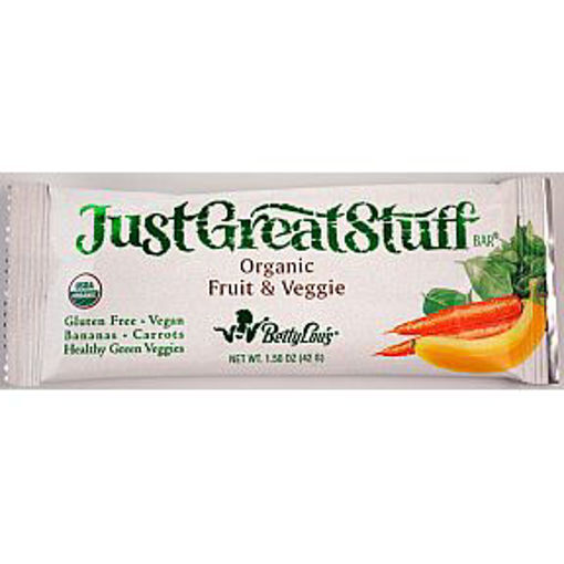 Picture of Betty Lou's Just Great Stuff Bar Organic Fruit & Veggie (9 Units)