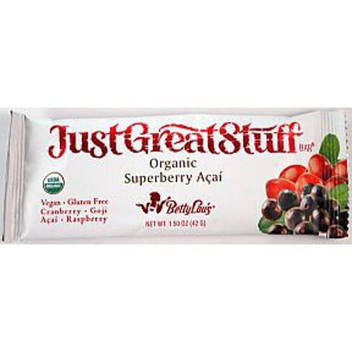 Picture of Betty Lou's Just Great Stuff Organic Superberry Acai bar (9 Units)