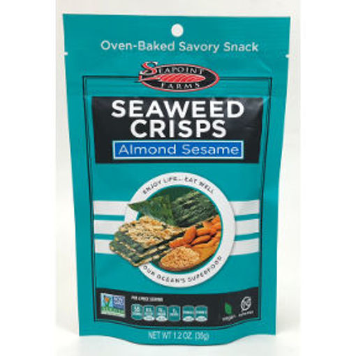 Picture of Seapoint Farms Seaweed Crisps Almond Sesame (8 Units)