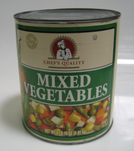 Picture of Chefs Quality - Mixed Vegetables - #10 cans 6/case