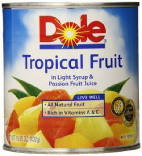 Picture of Dole - Tropical Fruit Salad in Light Syrup - #10 cans 6/case