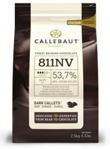 Picture of Callebaut - 811 Dark Chocolate Callets - 5.5 lbs 8/case