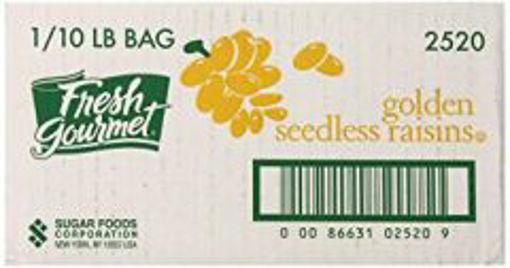 Picture of Fresh Gourmet - Golden Seedless Raisins - 10 lbs