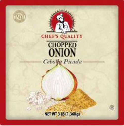 Picture of Chefs Quality - Chopped Onion - 3 lbs 4/case