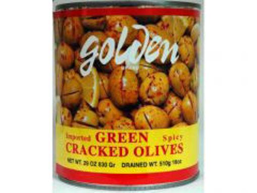 Picture of Golden Foods - Hot Nablusi Olives - 3 kg, 6/case