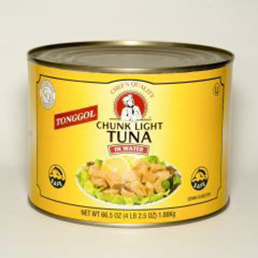 Picture of Chefs Quality - Tonggol Chunk Light Tuna in Water - 66.5 oz Can, 6/case