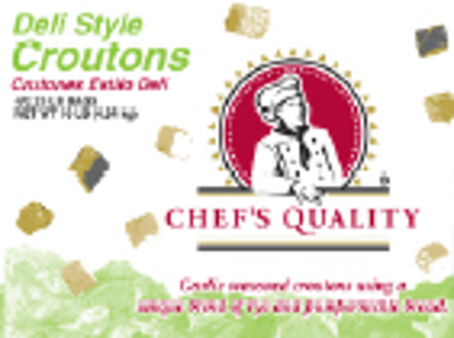 Picture of Chefs Quality - Deli Style Croutons - 4/2.5 lb Bag