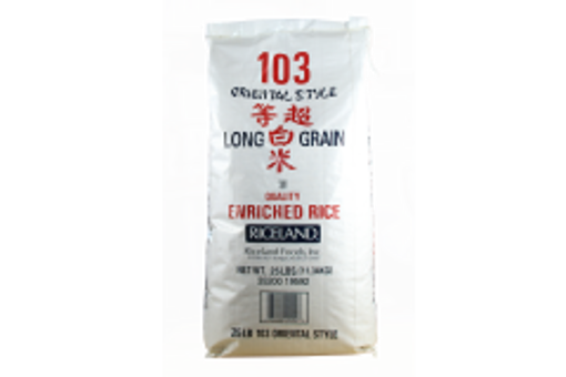 Picture of Riceland - 103 Oriental Style Long Grain Rice - 25 lb Bag