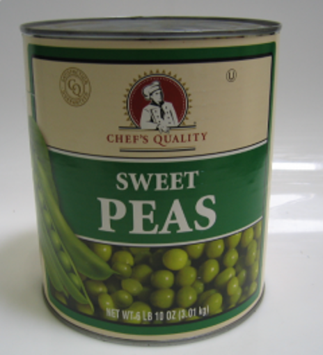 Picture of Chefs Quality - Sweet Peas 4 Sieve - #10 cans 6/case