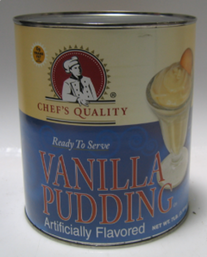 Picture of Chefs Quality - Vanilla Pudding - #10 cans, 6/case