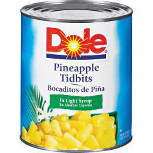 Picture of Dole - Pineapple Tidbits - #10 cans, 6/case