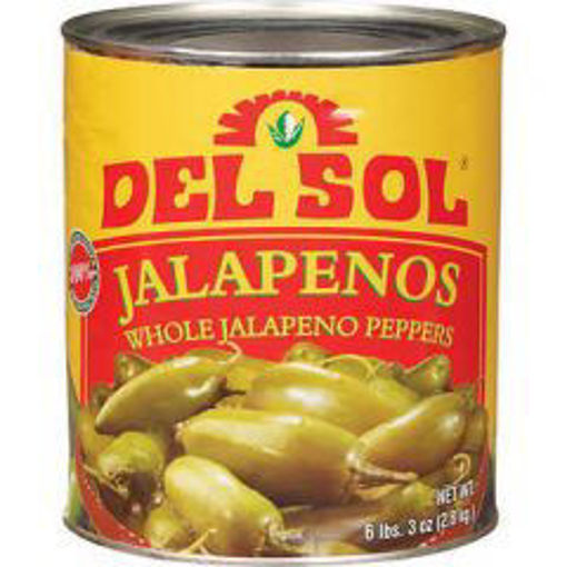 Picture of Del Sol - Whole Mexican jalapeno peppers - #10 can, 6/case