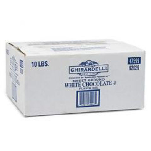 Picture of Ghirardelli - Classic White Chocolate Chips, 1000 ct - 10 lb Bag