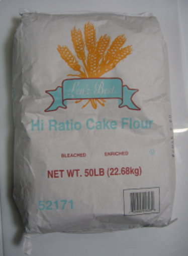 Picture of Lenz Best - Hi Ratio Cake Flour - 50 lb Bag