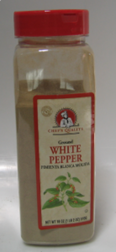 Picture of Chefs Quality - Ground White Pepper - 18 oz Jar, 12/case