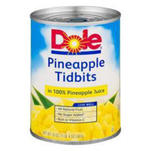 Picture of Dole - Pineapple Pizza Tidbits - 29 oz Can, 12/case