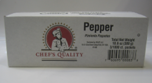 Picture of Chefs Quality - Black Pepper Packets - 3000 Ct