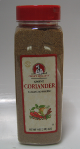 Picture of Chefs Quality - Ground Coriander - 1 lb Jar, 12/case