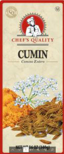 Picture of Chefs Quality - Cumin Seeds - 16 oz Jar, 12/case