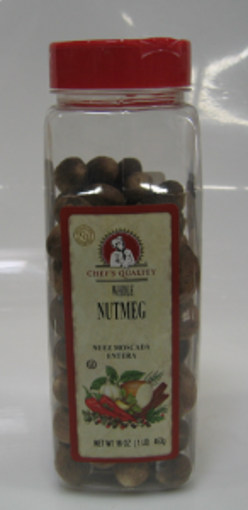 Picture of Chefs Quality - Whole Nutmeg - 16 oz Jar, 12/case