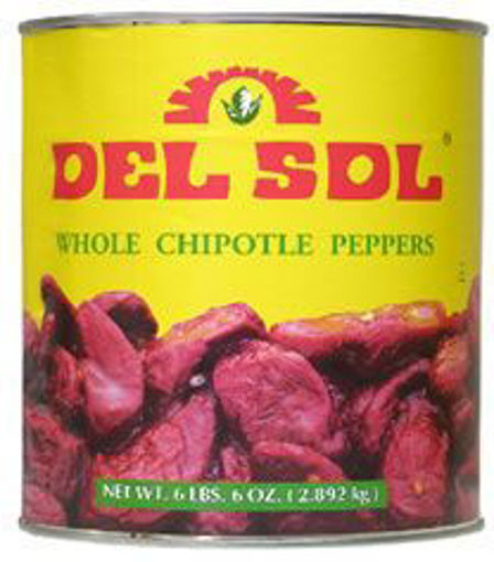 Picture of Del Sol - Whole Chipotle Peppers - #10 Can, 6/case