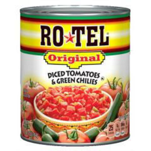 Picture of Rotel Diced Tomatoes & Chilies - 28 oz cans, 12/case