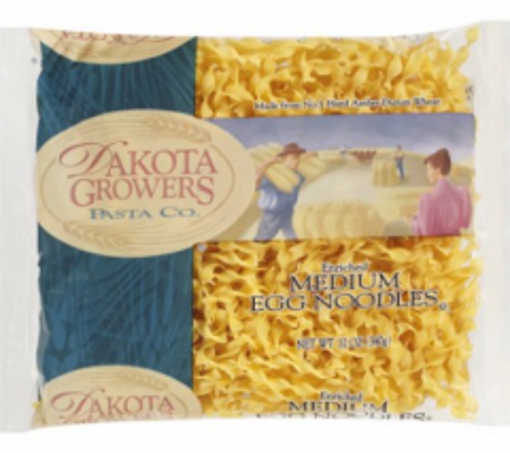 Picture of Dakota Growers Pasta - Medium Egg Noodles - 1/4 inch wide - 2/5 lb