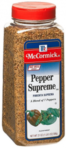 Picture of McCormick - Pepper Supreme Blend - 21 oz, 6/case