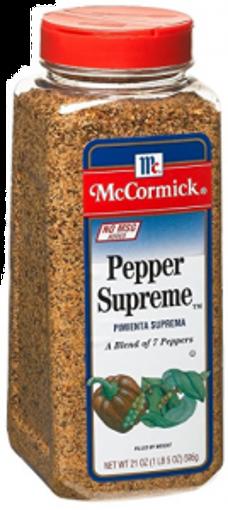 Picture of McCormick - Pepper Supreme Blend - 21 oz, 6/case