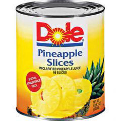 Picture of Dole - Sliced Pineapples in Light Syrup - #10 cans, 6/case