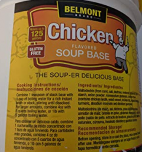Picture of Belmont - Chicken Flavor Base - 10 lbs