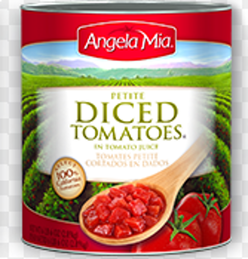 Picture of Angela Mia - Petite Diced Tomatoes - #10 cans, 6/case