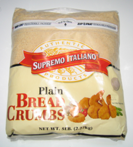 Picture of Supremo Italiano - Plain Bread Crumbs - 5 lbs, 6/case