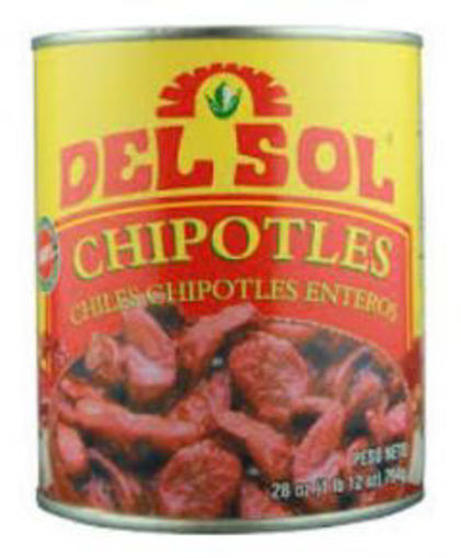 Picture of Del Sol - Whole chipotle peppers - 28 oz, 12/case