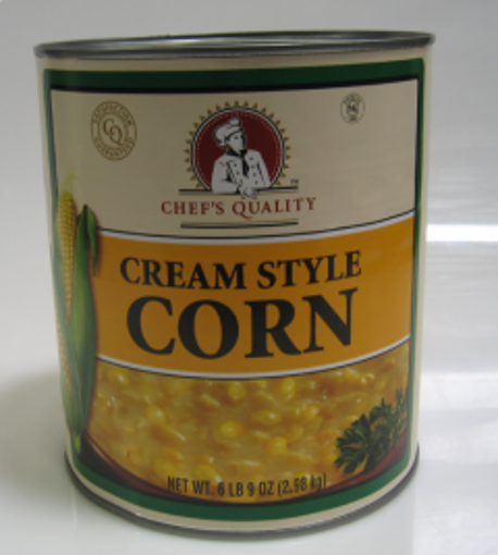 Picture of Chefs Quality - Cream Style Corn - #10 cans, 6/case