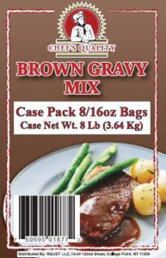 Picture of Chefs Quality - Brown Gravy Mix - 1 lb bag, 8/case