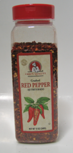 Picture of Chefs Quality - Crushed Red Pepper - 12 oz Jar, 12/case