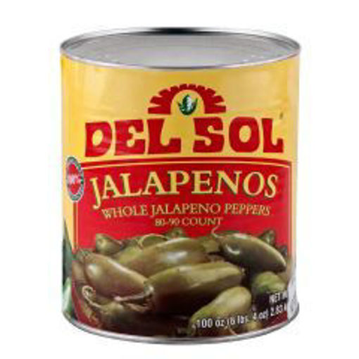 Picture of Del Sol - Whole Jalapenos In Escabeche - #10 Can, 6/case