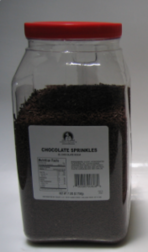 Picture of Chefs Quality - Chocolate Sprinkles - 7 lb Jar, 4/case