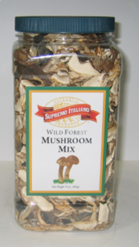 Picture of Supremo Italiano - Dry Wild Mushrooms, Assorted - 1 lb Container, 6/case