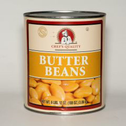 Picture of Chefs Quality - Butter Beans - 6 lb Can, 6/case