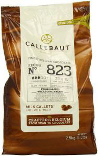Picture of Callebaut - 823 Milk Chocolate Callets - 5.5 lbs