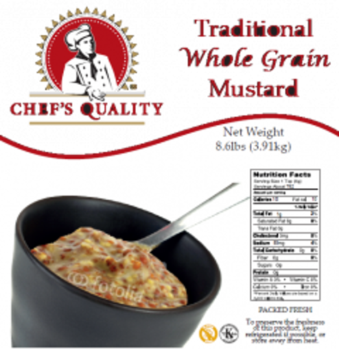 Picture of Chefs Quality - Whole Grain Mustard - 8.6 lbs, 6/case