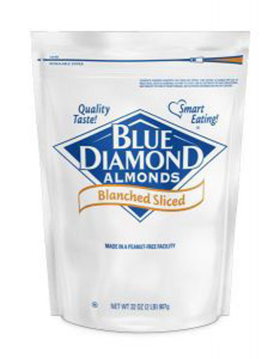 Picture of Blue Diamond - Blanched Sliced Almonds - 2 lbs, 4/case