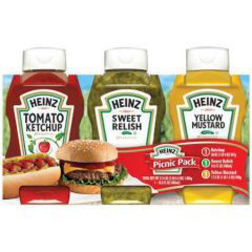 Picture of Heinz - Picnic Pack (Ketchup, Sweet Relish & Mustard) - 3pk, 4/case