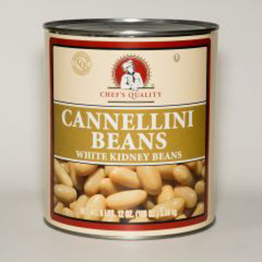 Picture of Chefs Quality - Cannellini (White Kidney) Beans - 6 lb Can, 6/case